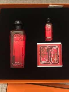 (Unisex) Eau de rhubarbe ecarlate- Hermes Perfume Gift Set