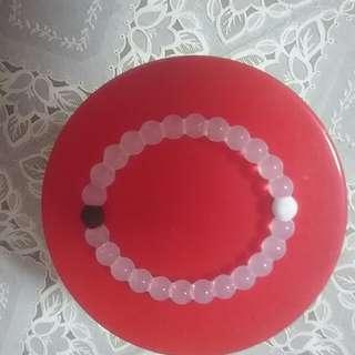 Bracelet, rubbery beads