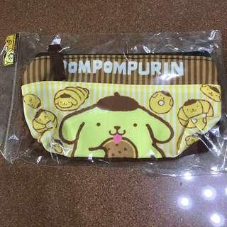 泰國正版布甸狗長形布筆袋雜物袋Pompompurin