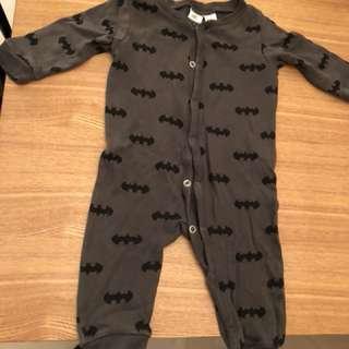 H&M 2-4M 連身衣 Batman 蝙蝠俠 嬰兒