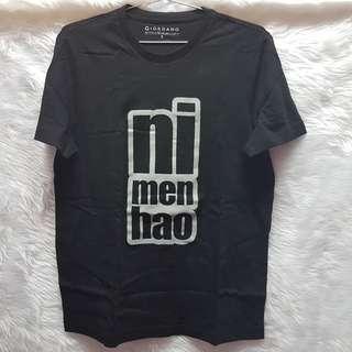 Giordano Black White Chinese Ni Men Hao T-Shirt Unisex