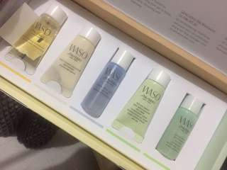 5pcs WASO SHISEIDO SET