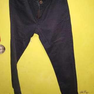 Skinny skirt uniqlo navy size 27