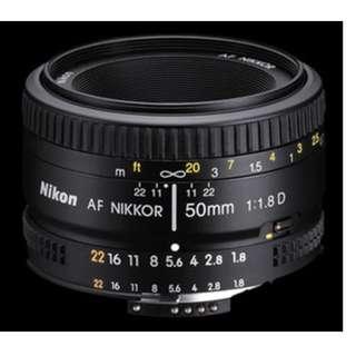 FS: Nikon 50mm f1.8 AFD prime lens