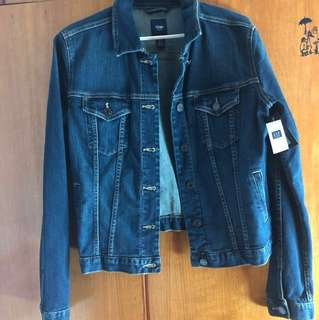 Brand new gap 100% real denim top, from Japan outlet originally around HKD $420!!