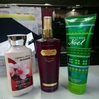 VS and Bath & Body Perfumes and Lotion