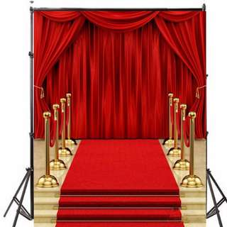 ❤On-hand: 5x7 Ft. Red Carpet theme Photobooth / Photoshoot Backdrop ( Wedding/ Birthday/ D&D)