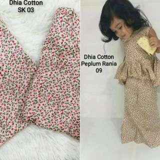 Peplum Rania & Baju Kurung Moden Cotton