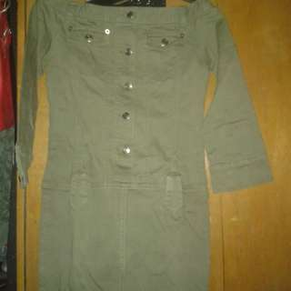 Maong Off Shoulder Dress