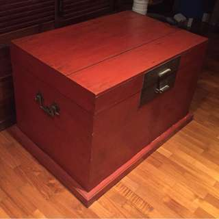 Wooden Chest with Lacquer outer coat