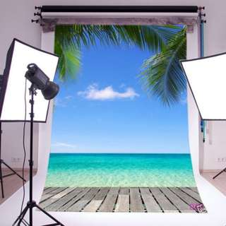 ❤On-hand: 5x7ft Seaside View Theme Photobooth / Photography Backdrop (Birthday/D&D/Reunion)