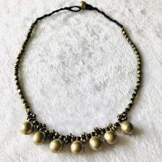 銅珠頸鍊及手鍊