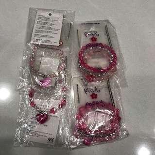 Pink Poppy crystal bracelet/ bangle