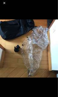 Quinny Zapp Stroller and rain cover and pram bag