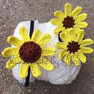 Handmade Sunflower Headband Set