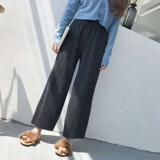PO: Korean Style Wide Leg Casual Pants