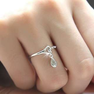 S925 silver with small droplets water ring