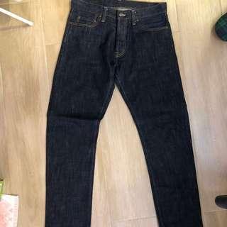 carhartt 深藍色 牛仔褲