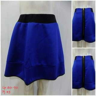 Blue zipper skirt