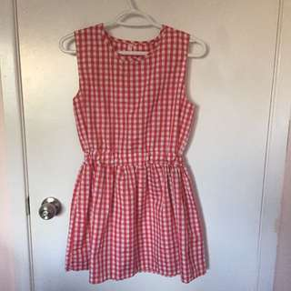 Cute red gingham dress