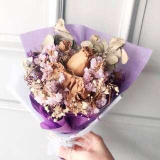 Quick Sale! Baby breath Rose Dried Flower Bouquet