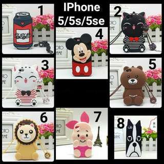 預購(Pre Order). Iphone 5立體卡通手機壳