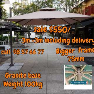 👉DIRECT SUPPLIER SALE👈 CHEAPER  BRAND NEW SUNRAY OUTDOOR PATIO PARASOL 3M × 3M AND 2.5M  × 2.5M SQUARE UMBRELLA STRONG GRANITE BASE  WEIGHT 11OKG BIGGEST FRAME  MORE DETAILS CALL 🛑9857 6677🛑