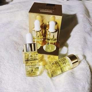 3W Clinic Ampoule Bergamo Luxury Gold Collagen & Caviar Wrinkle Care Repair Ampoule