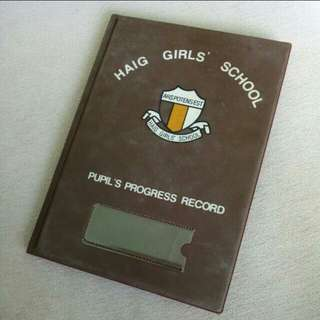 Haig Girls' School Pupil Progress Record