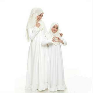 Della Dress/Jubah (White)