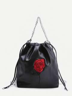 Ulzzang Rose Chain Bag