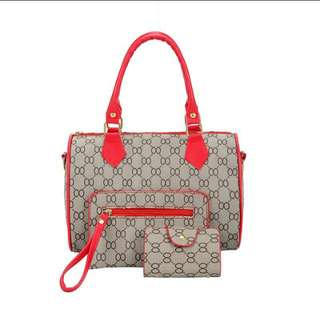 (PO) Ladies 3In1 Bag Set