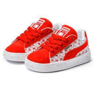 Hello Kitty Suede Puma Sneakers for KIDS