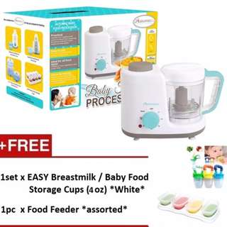 Autumnz 2-in-1 Baby Food Processor (Steam & Blend) *FREE x 2 GIFTS (4oz)*
