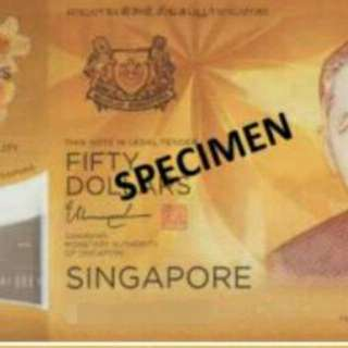 $50 Singapore Brunei 50 years
