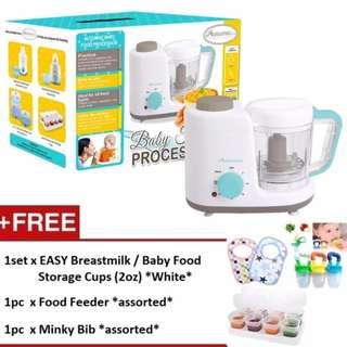 Autumnz 2-in-1 Baby Food Processor (Steam & Blend) *FREE x 3 GIFTS (2oz)*
