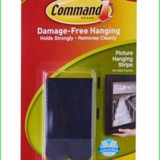 3M COMMAND PICTURE HANGING STRIPS 4KG 17201BLK (BLACK)