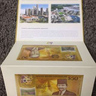 Brunei Darussalam - Singapore Currency Interchangeability Agreement Commemorative Notes