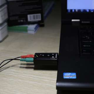v1: USB Sound Card Audio Adapter PnP for Windows / Mac OS <Quality Sound Card >