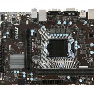 like new MSI B150M-ICAFE socket 1151 m-atx motherboard