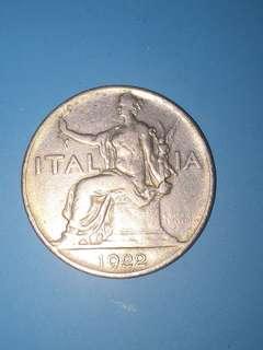 Itatly lira 1 Year 1922 sale 30%