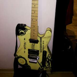Telecaster (with Floyd rose). C/w Marshall amp and 2 pedals