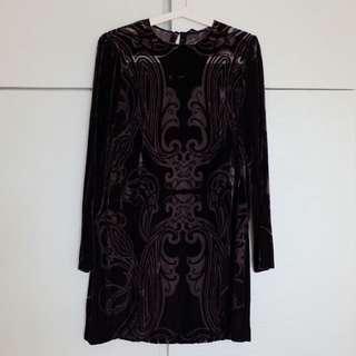 Zara Woman Black Velvet Dress #CNY2018