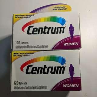 Women Centrum 120 tablets multivitamin/multiminal supplement