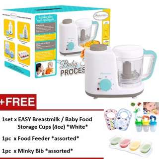 Autumnz 2-in-1 Baby Food Processor (Steam & Blend) *FREE x 3 GIFTS (4oz)*