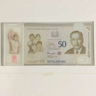 SG50 Single Note 002750 with Folder