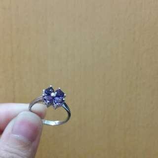 紫水晶ring (925純銀)