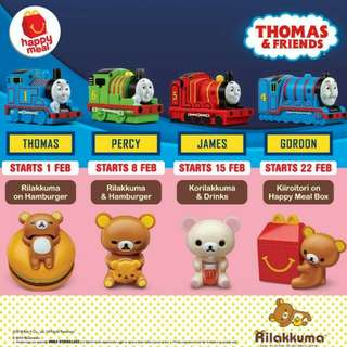 McDonald's Thomas & Friends / Rilakkuma Happy Meal Toy
