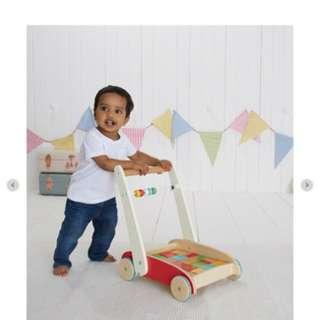 ELC Alat bantu jalan anak multifungsi Wooden Toddler Truck