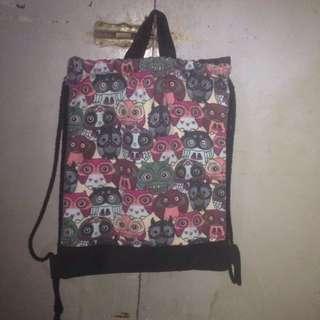 Owl String Bag